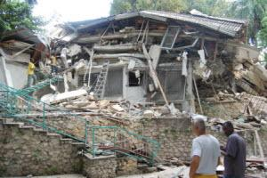 Most of the buildings on the 7-acre compound used by Healing Hands for Haiti in Port-au-Prince were destroyed by the earthquake.