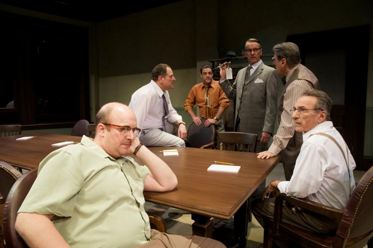 Cast of Pioneer Theatre Company's production of <i>Twelve Angry Men</i>. Photo by Alexander Weisman.