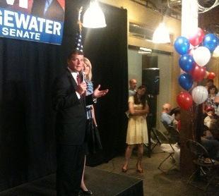 Tim Bridgewater addresses supporters