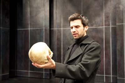 Michael Crane in the title role of <I>Hamlet</I> at Pioneer Theatre Company</I>