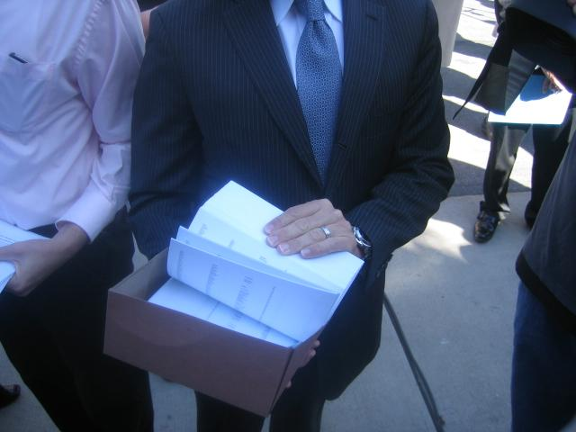 150,000 petition signatures delivered to LDS Church headquarters Tuesday