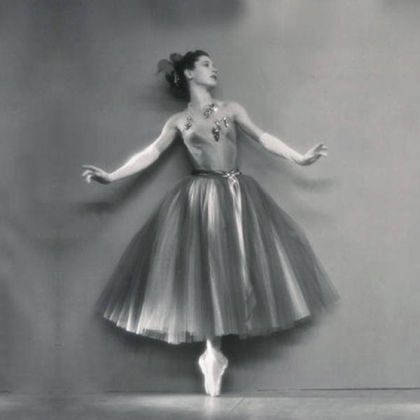 "Diana Adams in ""La Valse\"" [ca 1951] from the cover of Apollo's Angels"