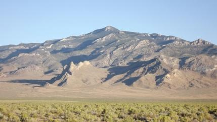 The Deep Creek Range rises above the Snake Valley on the Utah-Nevada state line