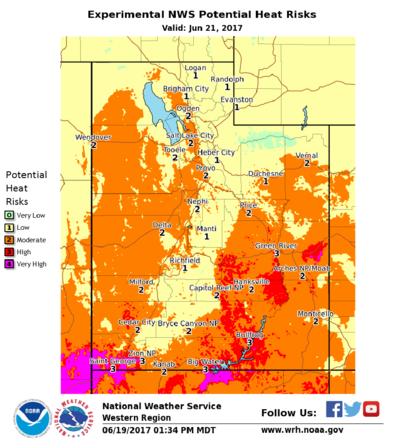 Weather Map Of Utah.As Utah Heats Up New Warning System Deployed Kuer 90 1
