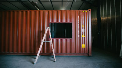 Home Sweet Shipping Container Home Slc Builder Stacks Steel Boxes