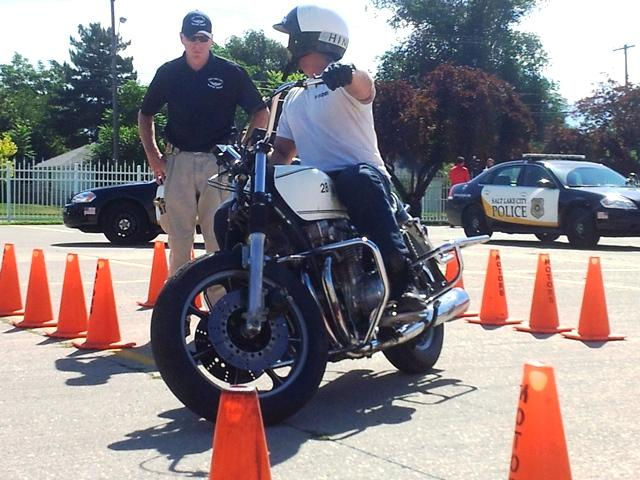 Salt lake city police department motorcycle squad trains for Department of motor vehicles salt lake city utah