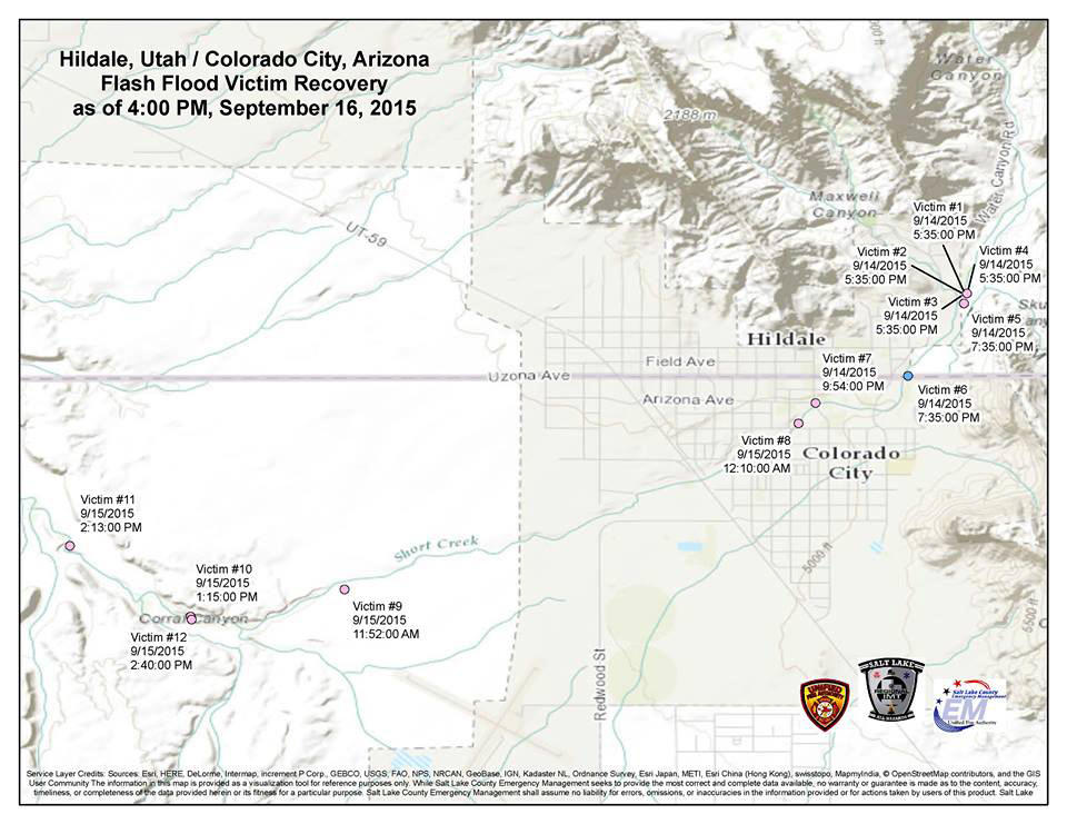 Colorado City Utah Map.Flash Flood Victim Recovery Effort Optimistic For Today Kuer 90 1