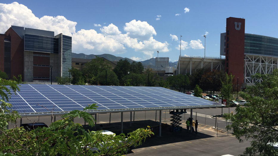 Solar Projects Continue At U Of U With New Parking Canopy