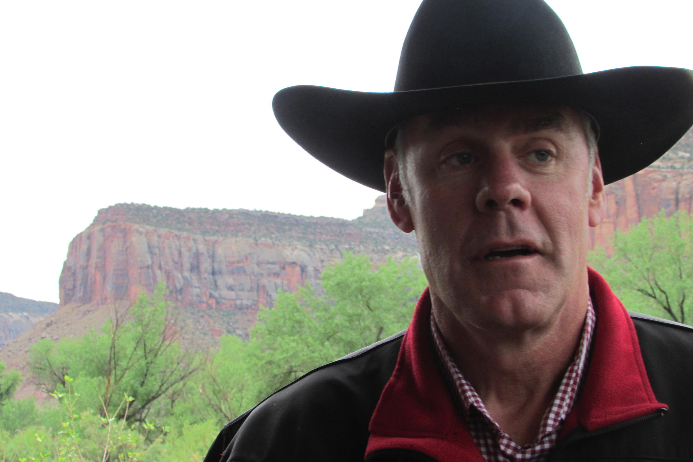 Interior Secretary Ryan Zinke visited Dugout Ranch Tuesday as part of his