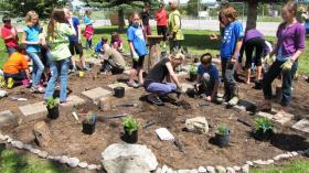 West Valley School is one of four Flathead Valley schools to use USFS grant money to establish a Native Plant Garden.