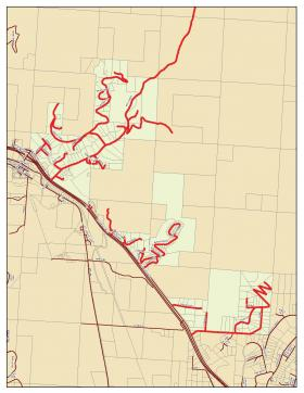 Mill Creek fire evacuation map