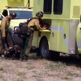 Snake River hotshots getting ready to fight the West Mullan fire near Superior