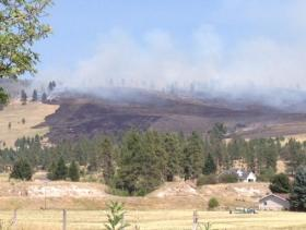 Mill Creek fire burning just east of Frenchtown
