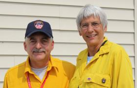 NYC Assistant Fire Chief Ron Spadafora and News Director Sally Mauk