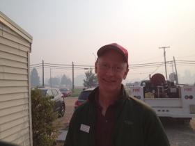 Fire incident commander Greg Poncin