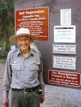 Park Ranger Lyle Ruterbories on one of the final days of his 22nd season as a Glacier National Park Ranger.