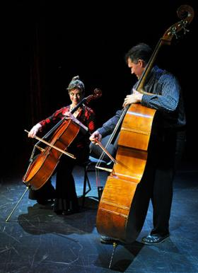 The Bottom Line Duo (classical bass and cello) perform Sunday, October 13th, 2013, 7:30pm, at the Swan Valley School.