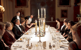"Dinner table of ""Downton Abbey"""