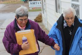 Margaret and Juanita Carranza, Lambert, MT