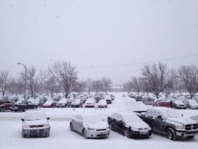 Snowy day in Missoula