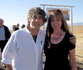 Director Alexander Payne and Anne Gauer