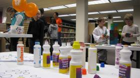 """Getting """"messy"""" at recently re-branded """"Imagine If"""" Library of Kalispell."""