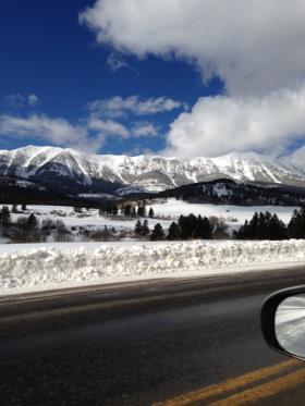Bridger Mountains in Montana