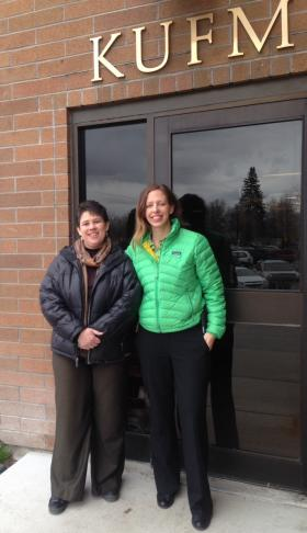Teresa Nygaard(L) and Katie Peterson