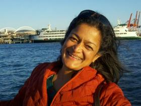 Author, immigration activist, and candidate for the Washington State Senate, Pramila Jayapal.