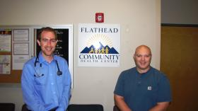 Dr. Kevin Kropp and Dr. TJ Sherry (left to right) are two of the first class of residents in the Family Medicine Residency of Western Montana.