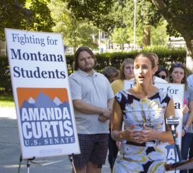 Amanda Curtis on the UM campus.