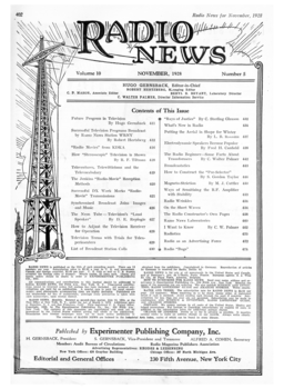 A Page from 'Radio News' Nov. 1928