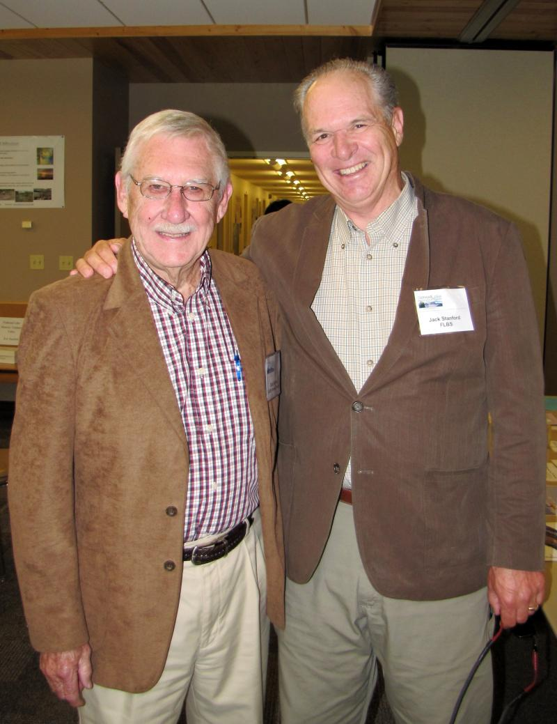 Former Director Dr. Richard Solberg (left) and current Director Dr. Jack Stanford