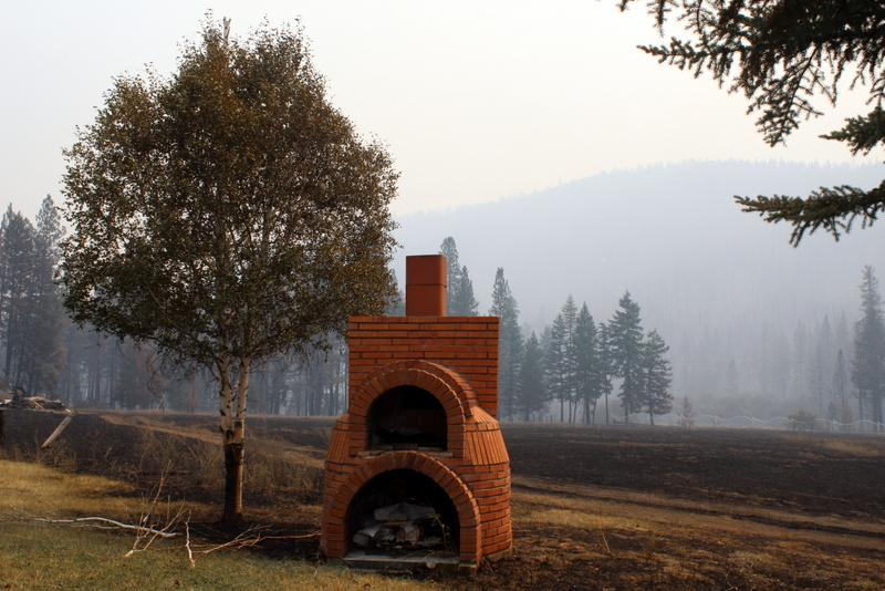 Brick fireplace survived the inferno