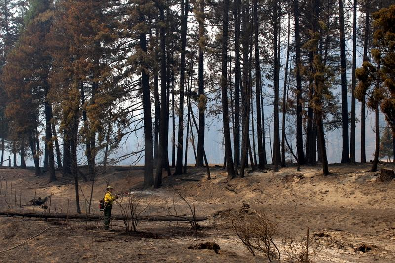 Wetting down hot spots along Highway 12