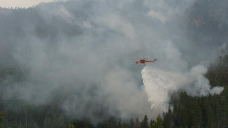 Water drop on West Riverside fire