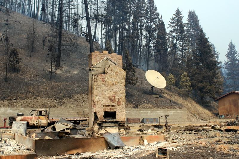 Remains of home lost to the Lolo Creek Complex fire