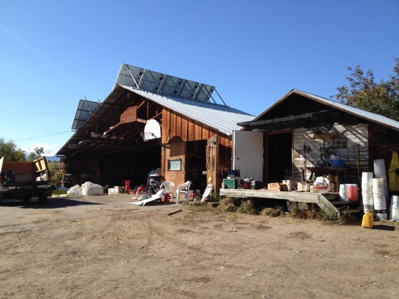 Lifeline shed equipped with solar panels