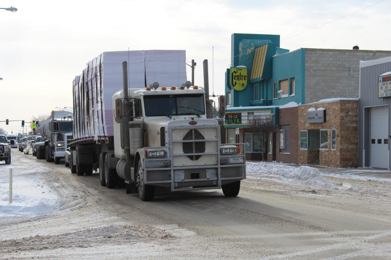 Big rigs pound the streets of Sidney every day. The city's mayor estimates truck traffic has increased 50 percent in the last five or six years