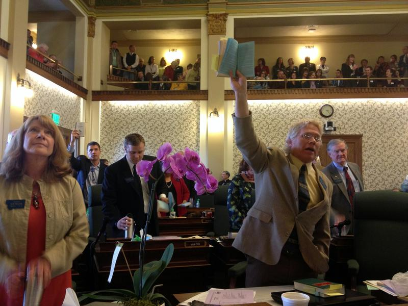 "Sen. Mike Phillips (D-Bozeman) quoting from the Montana Constitution in opposition to Republicans taking votes before recognizing a ""call of the Senate"" during the 2013 legislature"