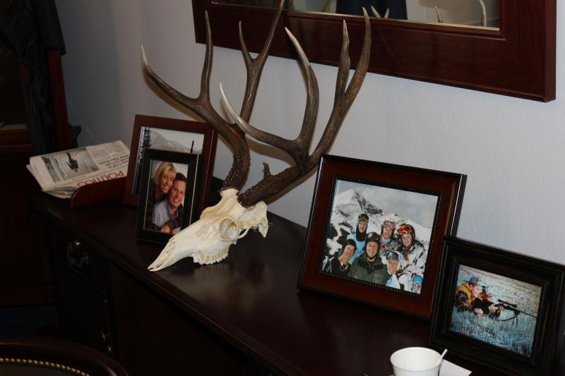 Some personal items in Steve Daines Washington office.