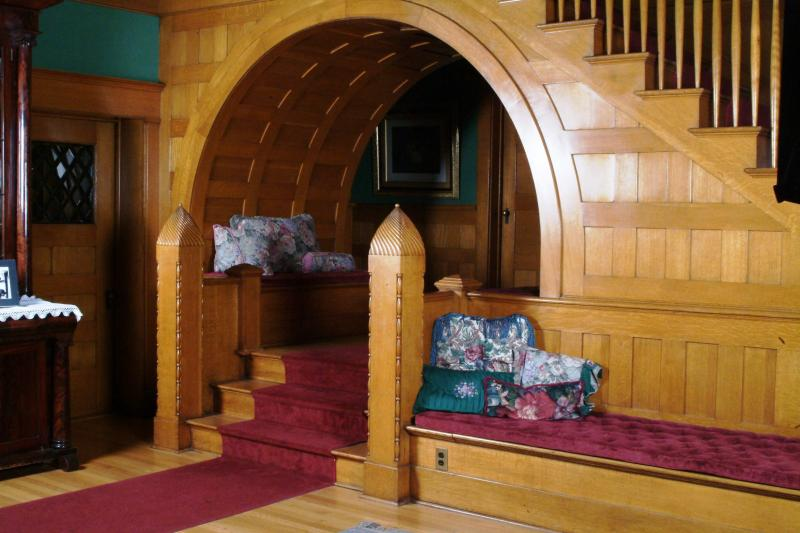 The interior arch, recent photo, under the staircase in the main entrance.