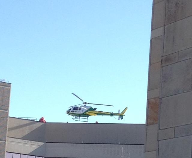 LifeFlight lifting off from St Pat's