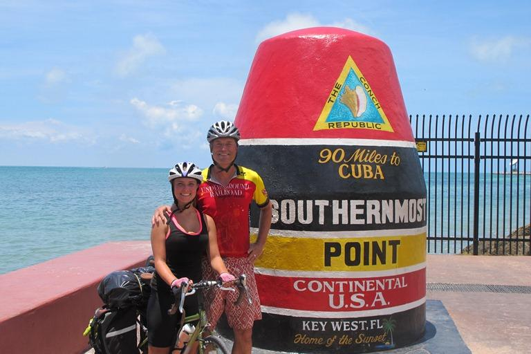 Jim with one of his daughters at Key West