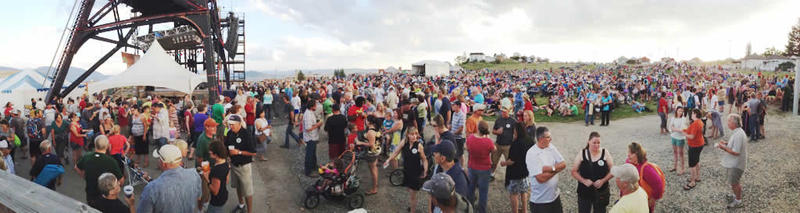 Montana Folk Festival Crowd, 2014.