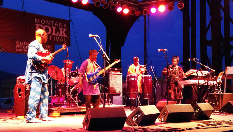 West African Highlife Band at the 2014 Montana Folk Festival
