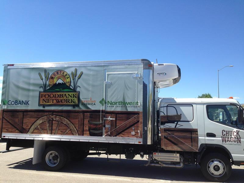 Montana food bank truck.