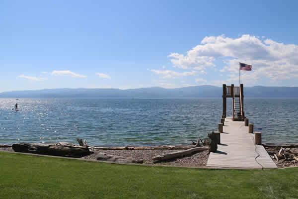 "The shores of Flathead Lake are a great place to celebrate ""the magical splendor of Montana."""