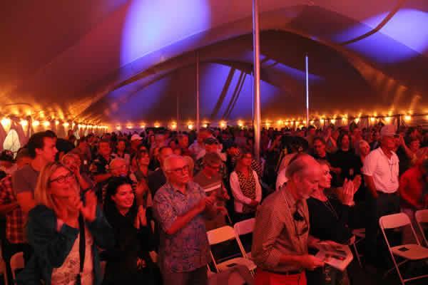 The big tent at Flathead Lake Lodge seats 1,000