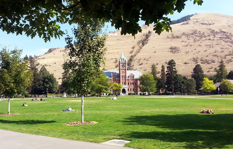 The University of Montana campus, Missoula, MT.